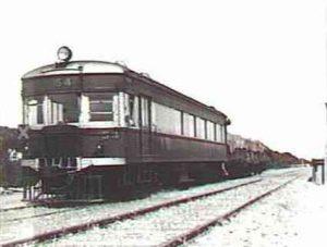 Railcar 54 at Milang Station.