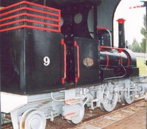 V9, one of the V Class locomotives is now preserved in aracoorte.